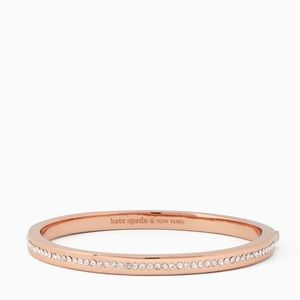 Kate Spade Rose Gold Ring It Up Pave Bangle NWT